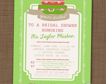 Cocktail baby shower invitation couples baby shower by for Italian bridal shower invitations