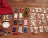 Hugh jewellery making kit complete with tools beads and findings and in a handcrafted draw string bag