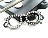 Glasses Connector Black Glasses with Rhinestone Connector Glasses Charm14 x 38mm