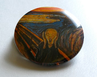 The Scream by Edvard Munch 1.25'' Pinback Buttons