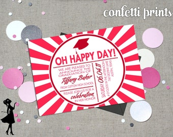 Graduation Invitation - HAPPY DAY Printable