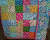 Dori by Mitzi Powers and Benartex - Colorful and Fascinating Pieced Crib/Toddler or Lap Size Quilt - Made with Designer Fabrics