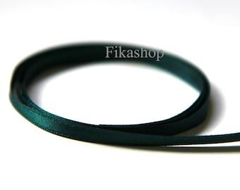 10 Yards 5mm One Sided Green Satin Ribbon 50% OFF SALE (KR0027) - Fikashop