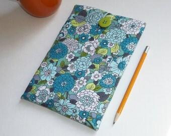 Teal, White and Green Floral Print - Kindle, ipad Mini, Nexus 5 Sleeve