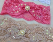 Lace Headband - Girls Headbands - Great Gatsby Headband - Sequin Headband - Baby Headband