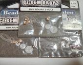 Cubic zirconia beads, cz gem dropz beadalon