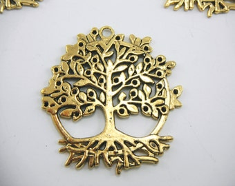 Gold Tree Of Life Pendant (Quantity of 4) PEND002