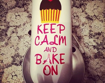 Keep Calm and Bake On Kitchenaid Mixer Decal