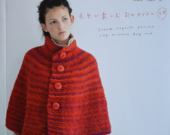 Stylish Winter Knit ,Snood, Poncho, Cagoule, Cap, Mittens, Bags- Japanese Craft Book (In Chinese)