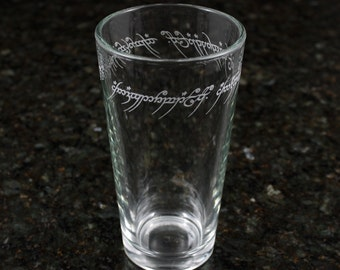 Lord of the Rings - One Ring Inscription Pint Glass