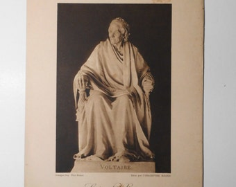 Free shipping-Ancient Art Print, Voltaire, Paris