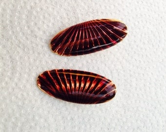 Blast from the past - oval earrings