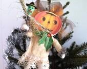 Spun Cotton Halloween Pumpkin