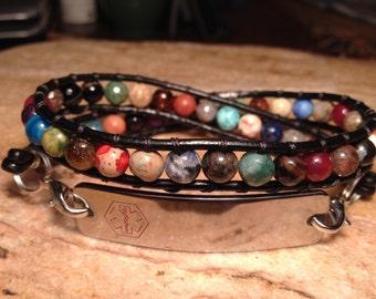 Gemstone - Medical ID Beaded Bracelet