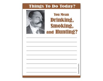 Overly Manly Man with Mustache Funny Notepad