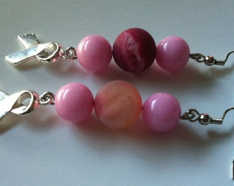 RIBBON Breast Cancer Earrings