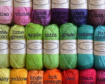 Choose any 30 colours you like Cotton Yarn Ready to ship by CrochetObjet