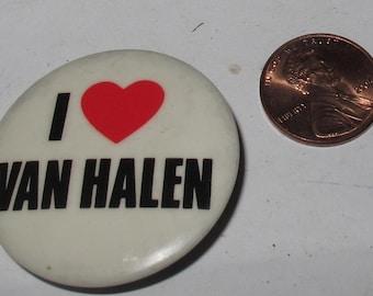 Vintage Collectible Button van halen
