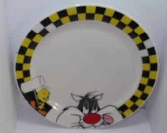 "Vintage 10"" looney tunes sylvester and tweety dinner plate"