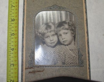 vintage b/w/ black and white photo photograph 2 girls