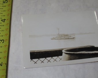 vintage b/w/ black and white photo photograph steamboat