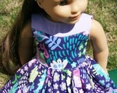 """Vibrant Purple Two Toned Dress for 18"""" Dolls **ON SALE**"""
