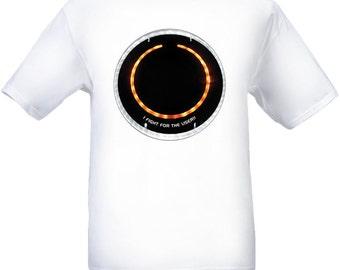 Customized Tron Shirt (Rinzler Disc Front)
