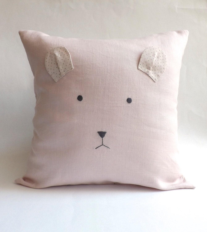 Decorative Pillows For Baby Room : Bear Baby Pillow Cover Modern Nursery Decor Baby Room Decor