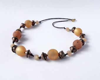 Statement topaz necklace handmade with topaz polaris beads with swarovsky element. ooak made in Italy.