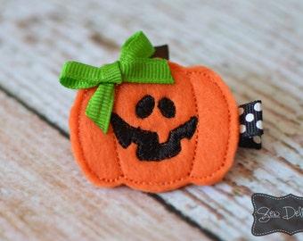 Pumpkin Hair Clip