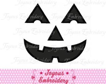 Halloween Pumpkin Face Applique Machine Embroidery Design NO:1236