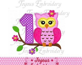 Instant Download Girl Owl On Branch Number 1 Applique Machine Embroidery Design NO:1484