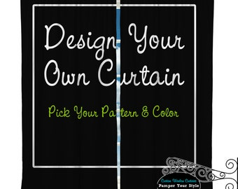 Custom Window Curtain - Design Your Own or Match Your Bedding or Curtain Purchase - Any Size Available