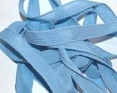 "Blue Gray 42"" hand dyed silk wrist wrap bracelet ribbon//Yoga wrist wrap bracelet ribbons//Silk wrist wrap ribbon// By Color Kissed Silk"