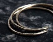 LUX hammered brass bangles - set of 3
