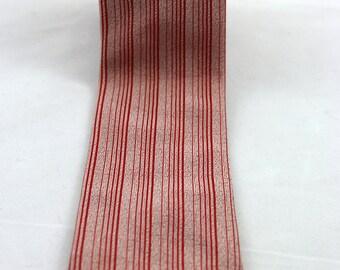 Vintage Men's Red Striped Necktie Skinny