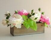 wood boxes, weddings, flowers, planter box rustic pot vases for wedding wooden boxes rustic chic wedding garden par