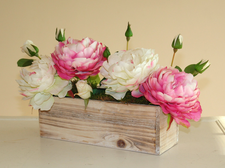 wood boxes  wood box  rectangular  weddings  flowers  centerpieces  planter box rustic pot vases