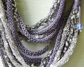 Grey Cowl Scarf, Statement Necklace, Grey Infinity Scarf, Necklace,Women's Fashion Accessories, Gifts for Her