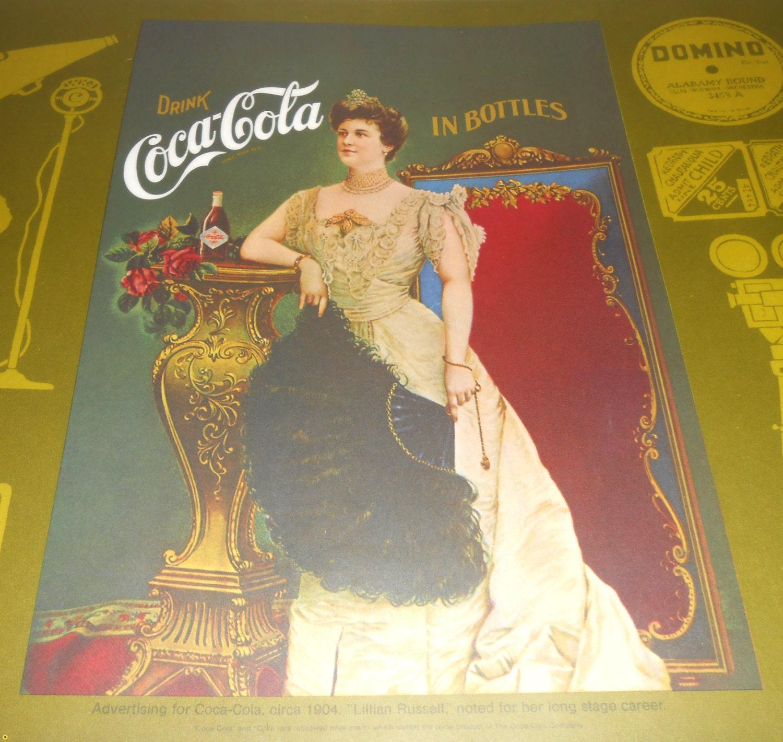 Vintage Place Mat Coca Cola Coke Kitchen Mat Lillian – Coca Cola Kitchen Rug