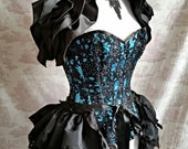 GOTHIC HALLOWEEN   Wedding Burlesque Bustle   Victorian  Dance By Ophelias Folly