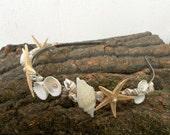 Mermaid crown, Starfish headband, Mermaid hair, Beach Wedding Crown, Mermaid Hair Accessories, seashell headband, mermaid wedding, seashell