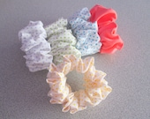 Pretty Hair Scrunchie Accessory Polka Dots -  Coral - Summertime Trend