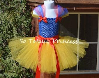 Snow White inspired tutu dress/Halloween costume/Princess tutu dress/baby girl tutu dress/girl tutu dress/photo prop