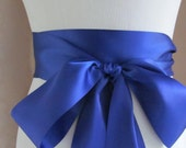 Cobalt Blue Bridal Sash / Double Face Sash  Ribbon /  Ribbon Sash /  12ft / 9ft / 6 ft sash
