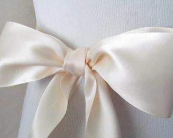 Nude Bridal Sash / Double Face Sash  Ribbon /  Ribbon Sash /  12ft / 9ft / 6 ft sash