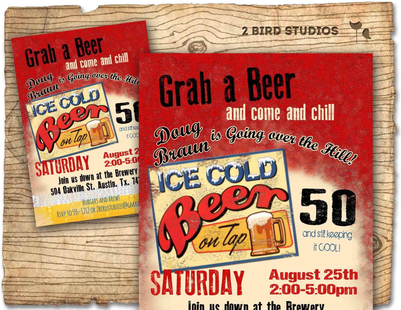 30th birthday invitation Beer birthday party invitations – Beer Party Invitations