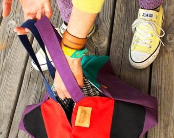 Origami Kara. waterproof canvas shoulder bag. Zen bag.