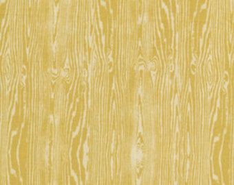 Woodgrain in Vintage Yellow from Aviary 2 by Joel Dewberry