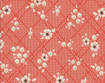 Crosshatch Floral Color B from Yuwa of Japan